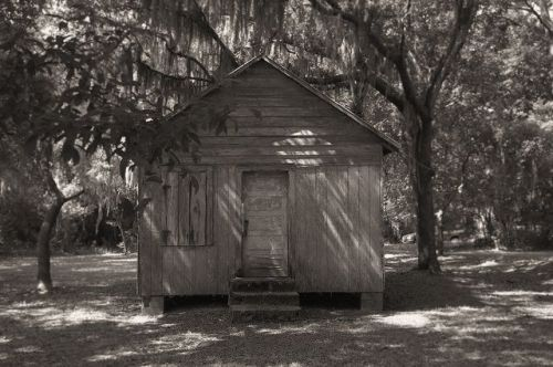 Eulonia GA McIntosh County Gathering Place Unidentified Church or School Shuttered Windows Vernacular Architecture Photograph Copyright Brian Brown Vanishing Coastal Georgia USA 2014