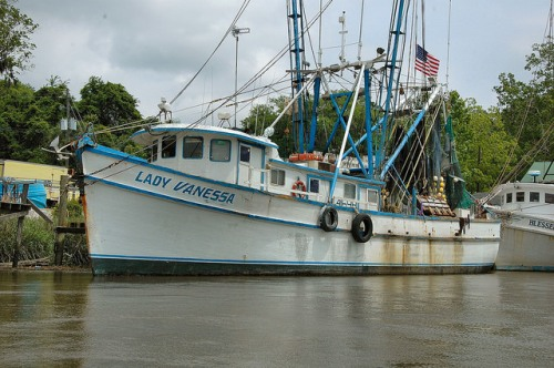 Shrimp Boat Lady Vanessa Darien GA McIntosh County GA Photograph Copyright Brian Brown Vanishing Coastal Georgia USA 2014