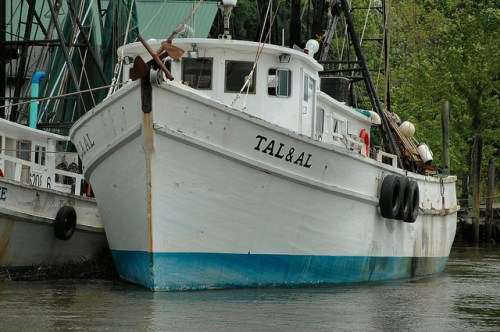 Shrimp Boat Tal & Al Darien GA McIntosh County Photograph Copyright Brian Brown Vanishing Coastal Georgia USA 2014
