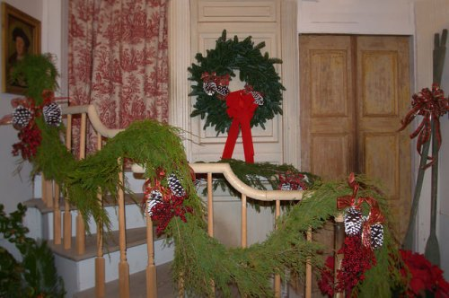 Ashantilly Darien GA Historic Old Tabby House Christmas Decorations Photograph Copyright Brian Brown Vanishing Coastal Georgia USA 20143