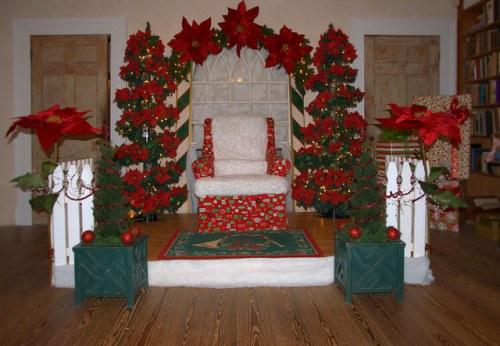 Ashantilly Old Tabby Darien GA Christmas Decorations Santa's Chair Photograph Copyright Brian Brown Vanishing Coastal Georgia USA 2014