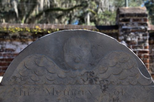 Midway Congregational Church Cemetery Liberty County GA Winged Death Tympanum of Margaret Stacy 1792 Photograph Copyright Brian Brown Vanishing Coastal Georgia USA 2015