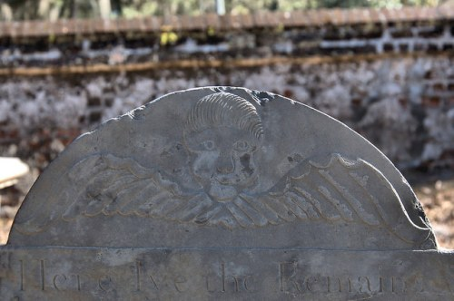 Midway Congregational Church Cemetery Liberty County GA Winged Death Tympanum of Susanna Stacy 1780 Photograph Copyright Brian Brown Vanishing Coastal Georgia USA 2015