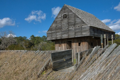 Fort King George Darien GA Colonial Stockade Photograph Copyright Brian Brown Vanishing Coastal Georgia USA 2015