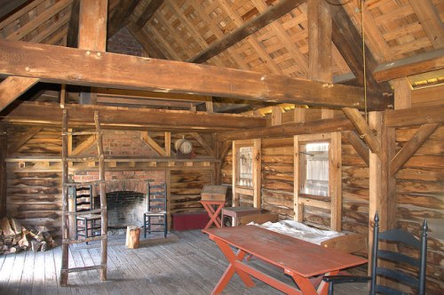 Fort King George Darien GA Interior of Residence Photograph Copyright Brian Brown Vanishing Coastal Georgia USA 2015
