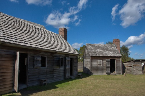 Fort King George Darien GA Outbuildings Photograph Copyright Brian Brown Vanishing Coastal Georgia USA 2015