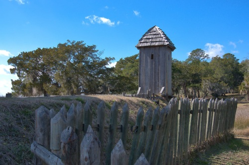 Fort King George Darien GA Sentry Guardhouse Photograph Copyright Brian Brown Vanishing Coastal Georgia USA 2015