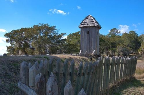 Fort King George Darien GA Sentry Guardhouse Photograph Copyright Brian Brown Vanishing Coastal Georgia USA 2015