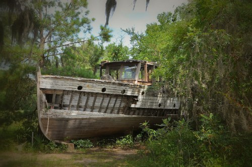 Oatland Island GA Savannah Abandoned Ship Photograph Copyright Brian Brown Vanishing Coastal Georgia USA 2015