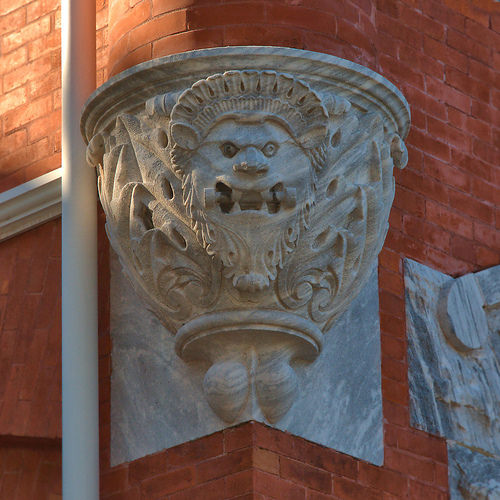 Brunswick GA City Hall Gargoyle Photograph Copyright Brian Brown Vanishing Coastal Georgia USA 2015