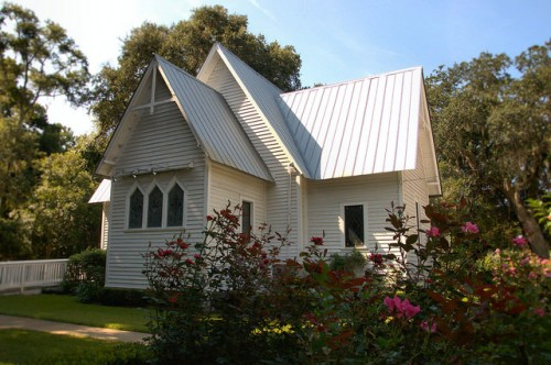 St. Ignatius Episcopal Church St. Simons Island GA Rear View Photograph Copyright Brian Brown Vanishing Coastal Georgia USA 2015
