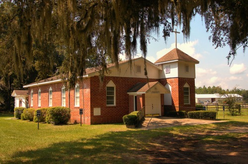 Galilee Baptist Church Brookman GA Brunswick Photograph Copyright Brian Brown Vanishing Coastal Georgia USA 2015