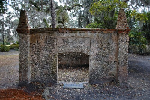 Historic Christ Church Frederica St Simons Island GA Cemetery Tabby Maousoleum Hazzard Family Photograph Copyright Brian Brown Vanishing Coastal Georgia USA 2015