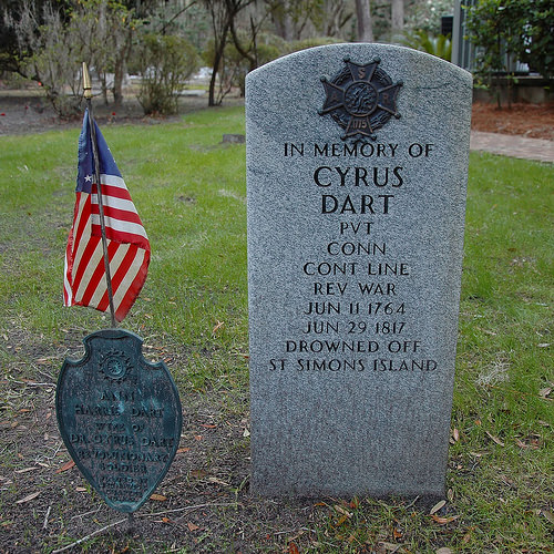 Historic Christ Church Frederica St Simons Island GA Cyrus Dart Revolutionary Veteran Drowning Victim Photograph Copyright Brian Brown Vanishing Coastal Georgia USA 2015