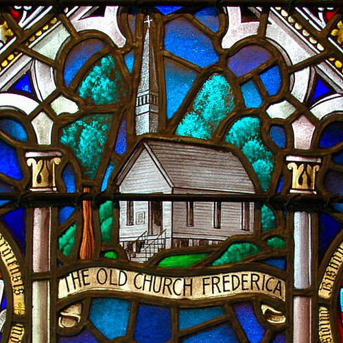 Historic Christ Church Frederica St Simons Island GA Detail of Stained Glass Old Chapel Photograph Copyright Brian Brown Vanishing Coastal Georgia USA 2015