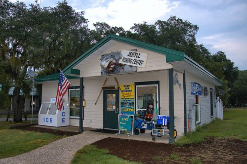 Jekyll Fishing Center Clam Creek Jekyll Island GA Photograph Copyright Brian Brown Vanishing Coastal Georgia USA 2015