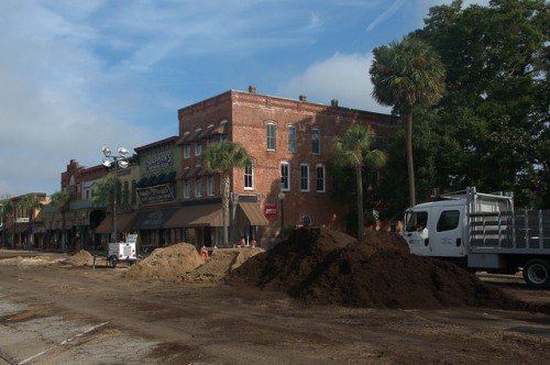 Live By Night Movie Set Dirt On Newcastle Street Brunswick GA Photograph Copyright Brian Brown Vanishing Coastal Georgia USA 2015