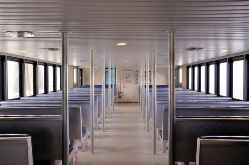 Sapelo Island GA Ferry Katie Underwood Interior Photograph Copyright Brian Brown Vanishing Coastal Georgia USA 2015