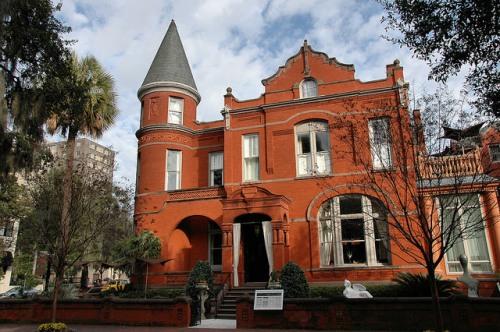 700 Drayton Street Forsyth Park Savannah GA Victorian Romanesque Mansion Photograph Copyright Brian Brown Vanishing Coastal Georgia USA 2015