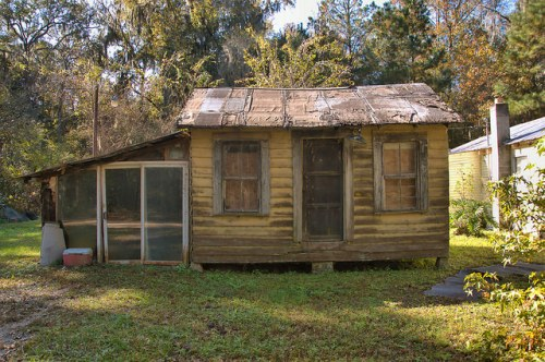 Freedmens Grove GA Liberty County Chattel Style House Photograph Copyright Brian Brown Vanishing Coastal Georgia USA 2015