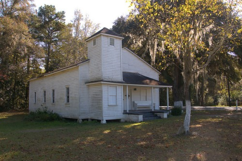 Freedmens Grove GA Liberty County Midway Area Ebenezer Church Photograph Copyright Brian Brown Vanishing South Georgia USA 2015
