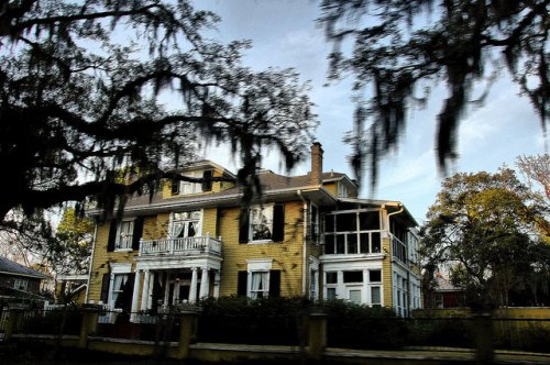 Savannah GA Colonial Revival House Photograph Copyright Brian Brown Vanishing Coastal Georgia USA 2015