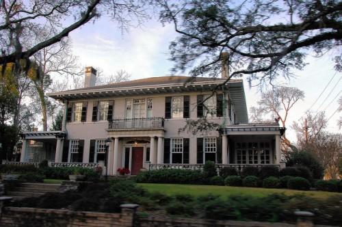 Savannah GA Italian Renaissance Architecture House Photograph Copyright Brian Brown Vanishing Coastal Georgia USA 2015