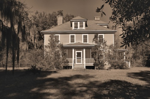 Altama Plantation Glynn County GA Big House Photograph Copyright Brian Brown Vanishing Coastal Georgia USA 2016