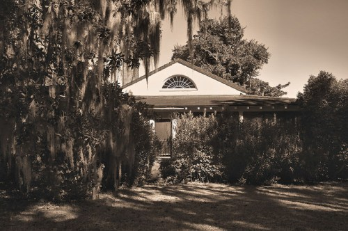 Altama Plantation Glynn County GA Hunting Lodge Fanlight Photograph Copyright Brian Brown Vanishing Coastal Georgia USA 2016