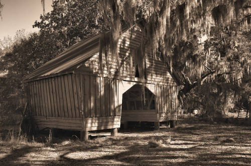 Altama Plantation Glynn County GA Storage Barn Photograph Copyright Brian Brown Vanishing Coastal Georgia USA 2016