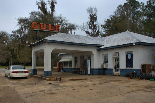 Gulf Station Midway GA Photograph Copyright Brian Brown Vanishing Coastal Georgia USA 2015