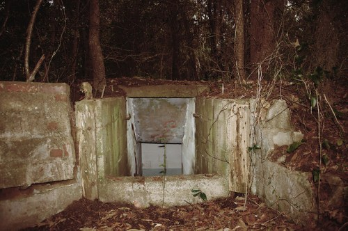 Sunbury Plantation Cold War Era Fallout Bomb Shelter Entrance Photograph Copyright Brian Brown Vanishing Coastal Georgia USA 2016