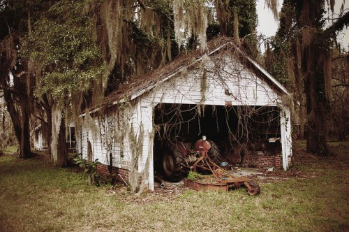 Sunbury Plantation Garage Liberty County GA Photograph Copyright Brian Brown Vanishing Coastal Georgia USA 2016