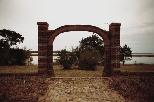 Sunbury Plantation Liberty County GA Blackbeard Creek Medway River Arch Photograph Copyright Brian Brown Vanishing Coastal Georgia USA 2016