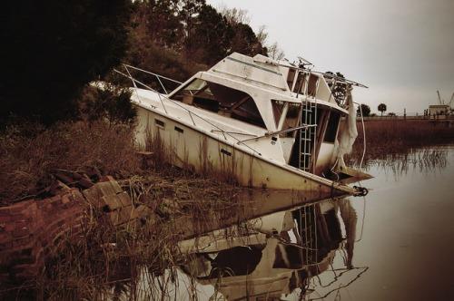 Sunbury Plantation Medway River Blackbeard Creek Beach Ship Boat Photograph Copyright Brian Brown Vanishing Coastal Georgia USA 2016