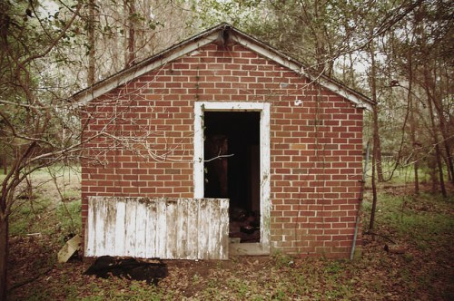 Sunbury Plantation Smoke House Liberty County GA Photograph Copyright Brian Brown Vanishing Coastal Georgia USA 2016