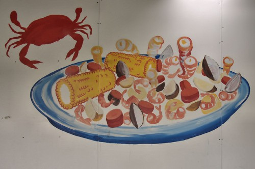 Charlie Teeple Seafood Market Victory Drive Savannah GA Low Country Boil Painting Photograph Copyright Brian Brown Vanishing Coastal Georgia USA 2016
