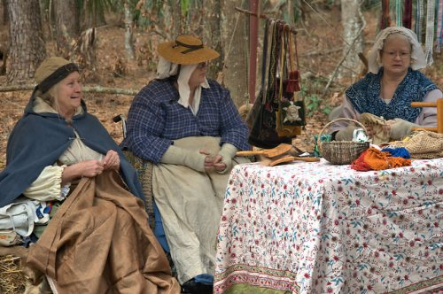 Colonial Faire & Muster Wormsloe Isle of Hope Savannah GA Ladies Reenactors Photograph Copyright Brian Brown Vanishing Coastal Georgia USA 2016