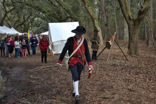 Colonial Faire & Muster Wormsloe Isle of Hope Savannah GA Reenactor Oaks Photograph Copyright Brian Brown Vanishing Coastal Georgia USA 2016