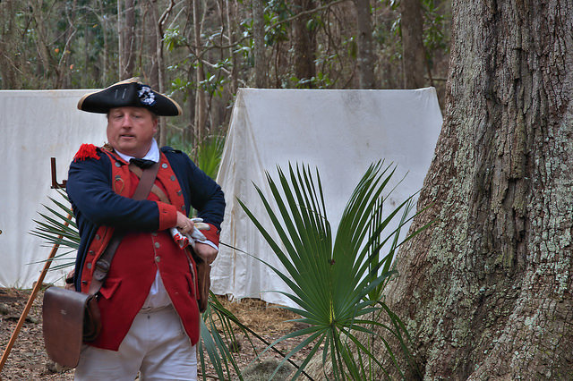 Colonial Faire & Muster Wormsloe Isle of Hope Savannah GA Soldier Reenactor Photograph Copyright Brian Brown Vanishing Coastal Georgia USA 2016