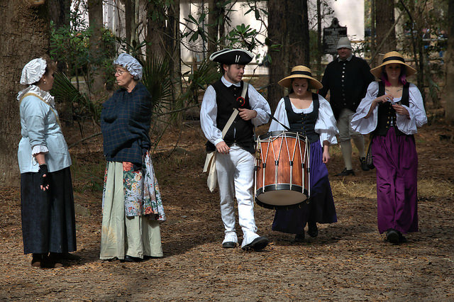 Colonial Faire & Muster Wormsloe Savannah Reenactors Drummer Photograph Copyright Brian Brown Vanishing Coastal Georgia USA 2016