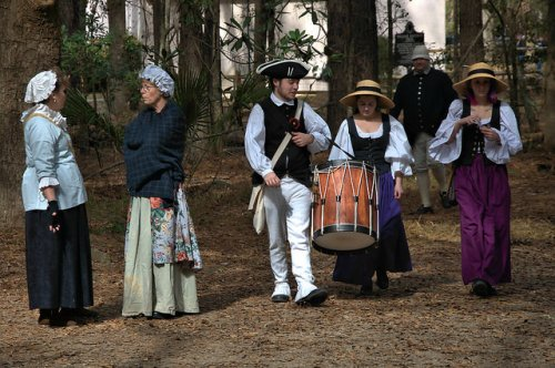Colonial Faire & Muster Wormsloe Savannah Reenactors Drummer Photograph Copyright Brian Brown Vanishing Coastal Georgia USA 2016