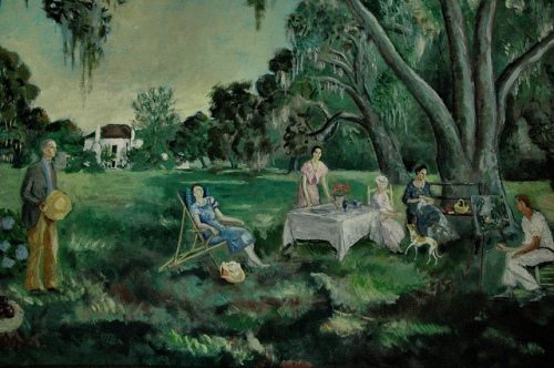 oil-painting-of-southern-life-at-ashantilly-by-william-g-haynes-jr-ashantilly-center-collection-iconic-southern-imagery-picture-image-photo-copyright-brian-brown-photographer-vanishing