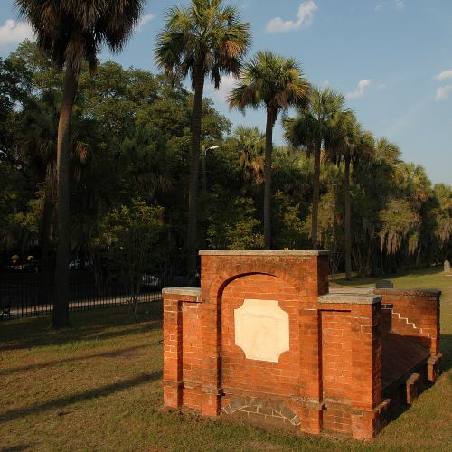 colonial park cemetery savannah ga avenue of palmettoes photograph copyright brian brown vanishing coastal georgia usa 2016