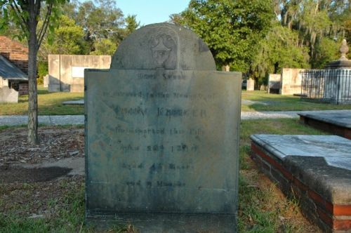 colonial park cemetery savannah ga john kreeger slate headstone photograph copyright brian brown vanishing coastal georgia usa 2016